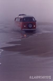 Vieux west à South Padre Island National Seashore, TX